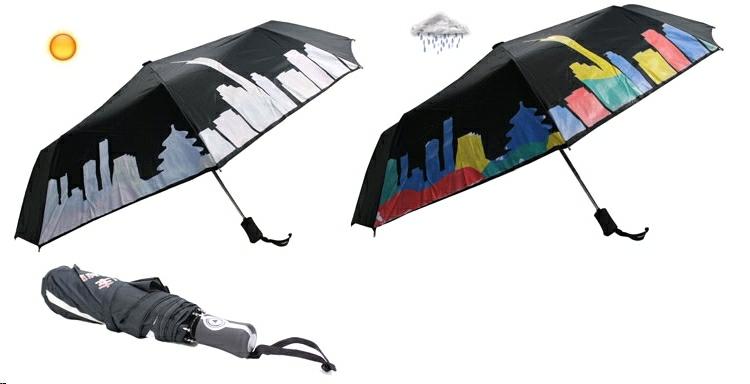 Esernyő színváltó nyomattal