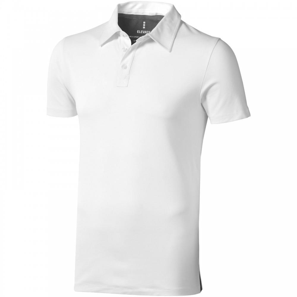 3bb61a524f Elevate Markham galléros férfi póló, fehér (Galléros póló, 90-100% pamut