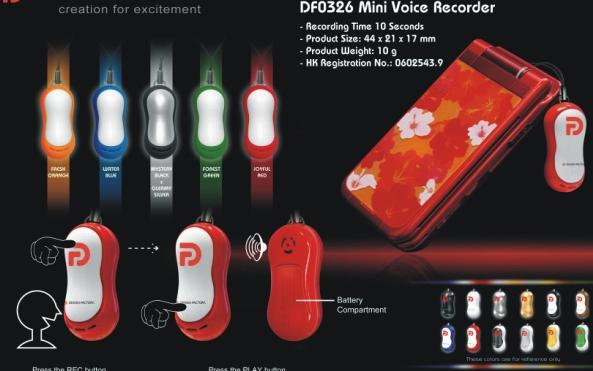 Mini hangrögzítős lámpa