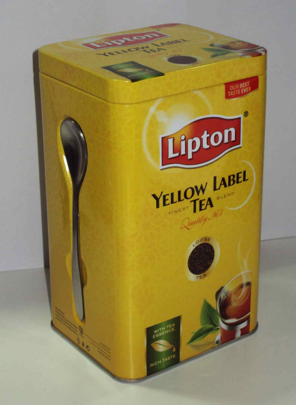 Fém teásdoboz mágnessel rögzíthető teáskanállal