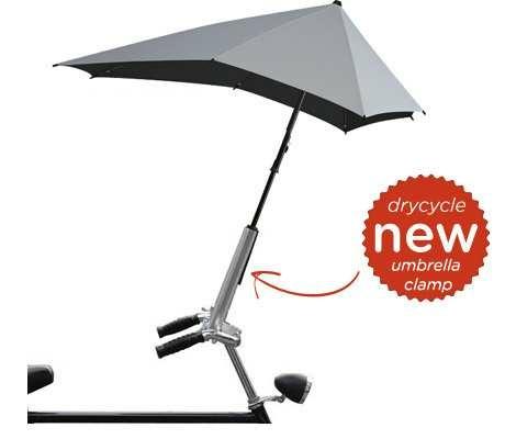 Kerékpárra szerelhető esernyőtartó