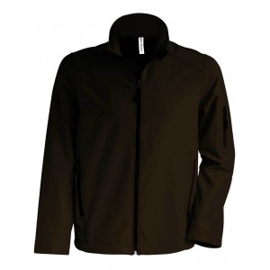 Kariban Férfi softshell dzseki, Dark Chocolate, 4XL (KA401DC)