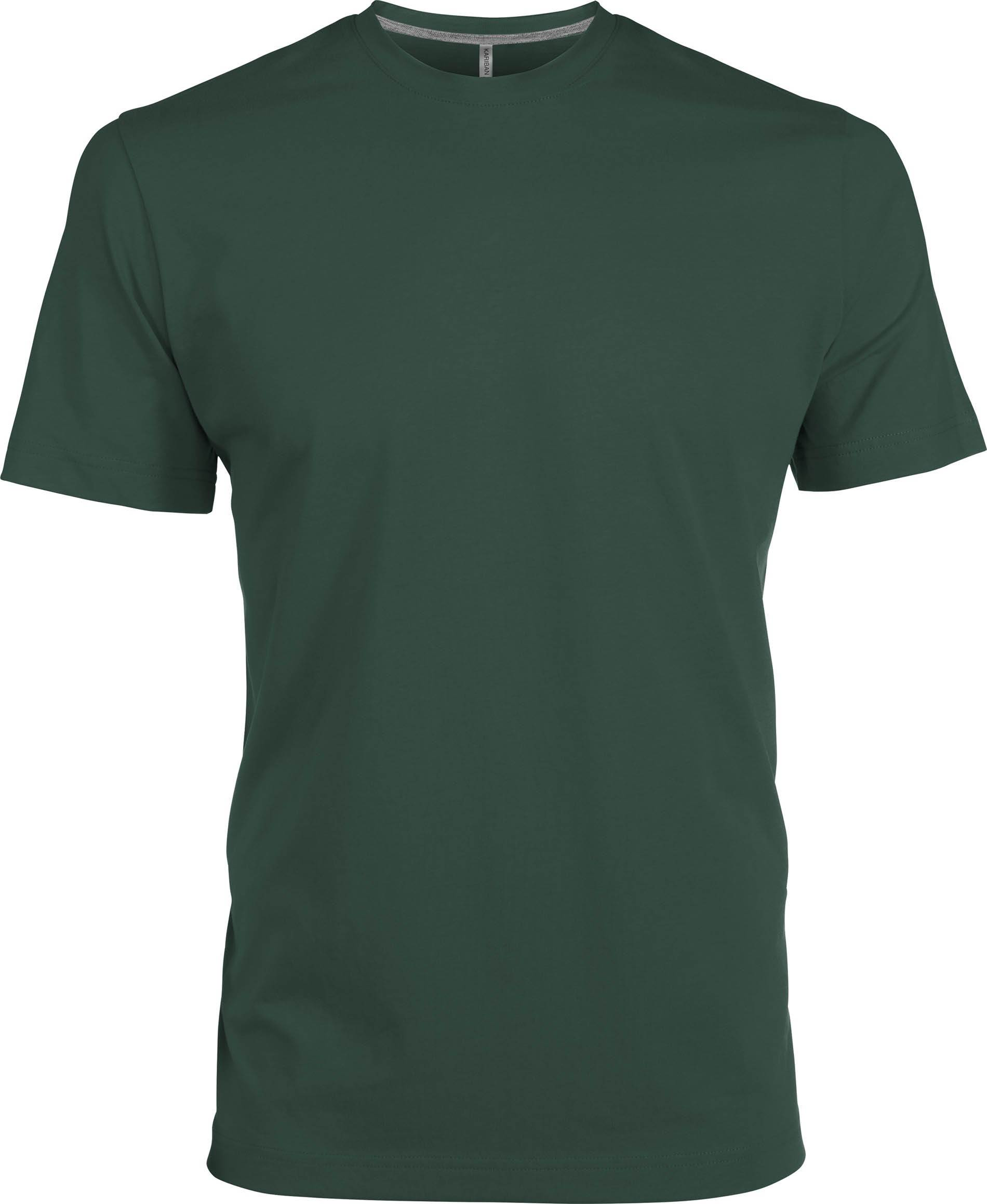 Kariban p l forest green s p l t shirt for Forest green polo shirts