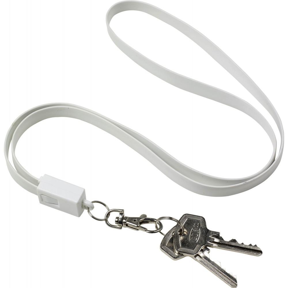 Nyakpánttöltőkábel, fehér (vezeték, elosztó, adapter, kábel