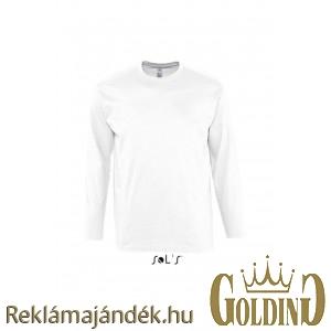3fac4e4c22 Sols Monarch hosszúujjú férfi póló, White, 2XL (Póló, T-shirt) -  Reklámajándék.hu Nagykereskedés
