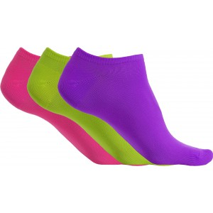 ProAct Titokzokni, 3 pár, Bright Violet/Fluorescent Green/Fluorescent Pink, 35/38 (PA033BVI/FGN/FP-35/3)