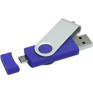 Rotate pendrive on-the-go, kék, 4GB (raktári) (1Z20120G)